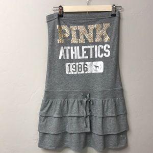 Pink Victoria's Secret grey strapless dress. NWT.S